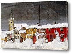 Картина Зимняя улица в Рёрусе