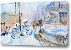 Картина Забытый велосипед