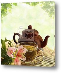 Чайный набор с чайником и чашкой