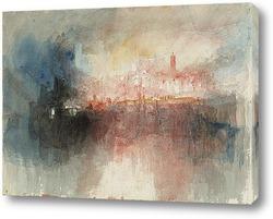 Постер Пожар в большом хранилище Лондонского Тауэра