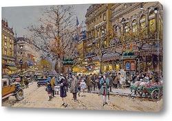 Картина Париж бульвар