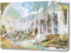 Постер Лесной водопад