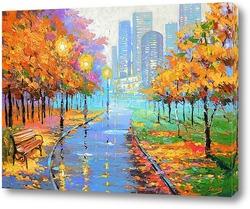 Постер Осень в большом городе