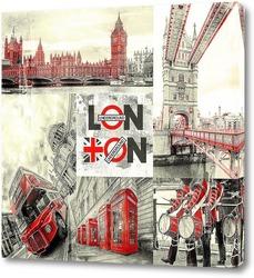 Постер London city