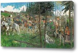 Картина Отступление французов из Москвы в 1812 году