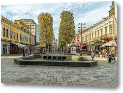 Постер Пешеходная улица в Каунасе