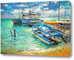 Картина Лодки у острова