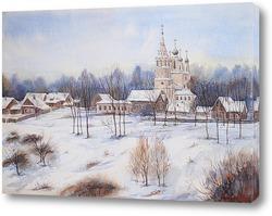 Картина Спасо-Архангельская церковь города Тутаев