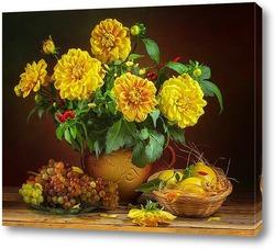 Картина Жёлтые георгины