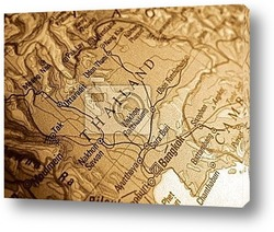 Treasure map and compass