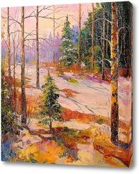 Постер В зимнем лесу