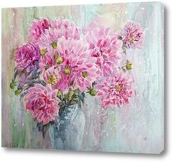 Постер Розовые георгины