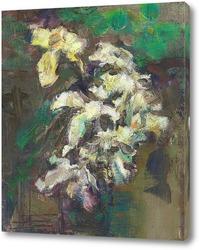 Картина этюд с лилиями