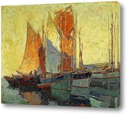 Постер Лодки Бретани