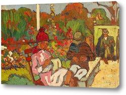 Картина Париж, Люксембургский сад, вязальщица