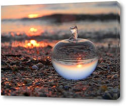 Pietre Zen sulla sabbia con sfondo di natura