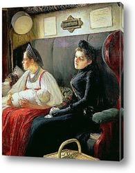 Картина К родственникам, 1891