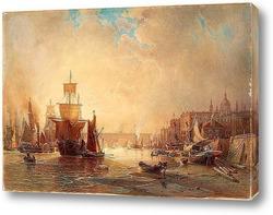 Картина Мотив из Сены, Парижа