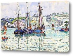 Постер Три лодки