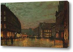 Переулок Борова Лидс при искусственном освещении 1881