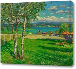 Картина Летнее время на озере муртензее