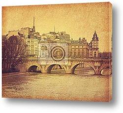 Постер Париж, Франция, ретро стиль