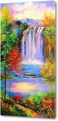 Картина Горный водопад
