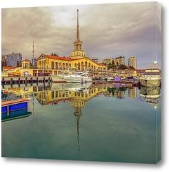 Постер Сочинский морской порт перед грозой