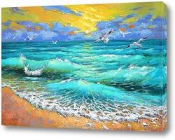 Картина Море утро