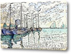 Картина Волендам, рыбацкие лодки