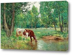 Картина Пасторальный пейзаж с коровами