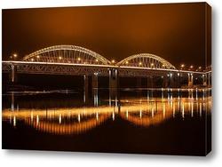 Постер Современный мост через реку