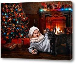 Постер Вечер у новогодней елки