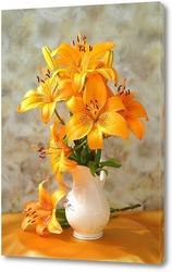 Постер Золотые лилии