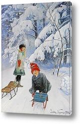 Постер Катание на санках