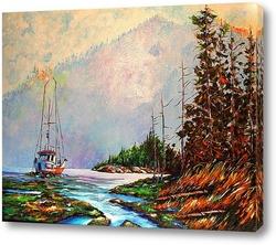 Картина Озера Севера. Ожидание путины.