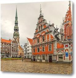 Картина старый город Рига