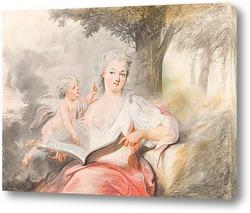 Картина Дама с Амуром