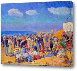 Картина Толпа на берегу моря