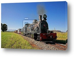Постер Vintage steam locomotive