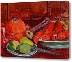 Картина Натюрморт с фруктами и моллюсками