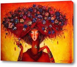 Картина цветочный тюрбан