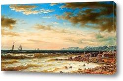 Вид на берег Порву