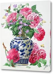 Постер Розы в китайской вазе