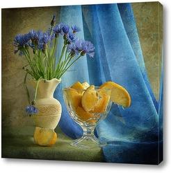 Постер Лимонно-васильковый