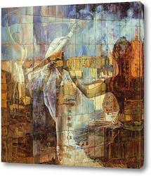 Картина Легкие отражения в зеркале города