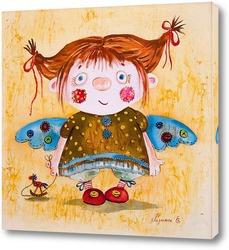 Картина Текстильный ангел