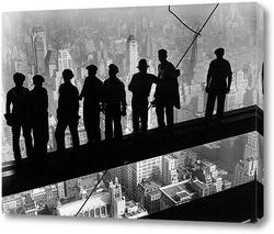 Постер 1932: Строители на железной скобе на строительной площадке Эмпайр-Стейт