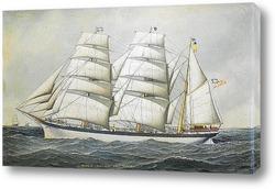 """Корабль """"Молодая Америка"""" в море"""