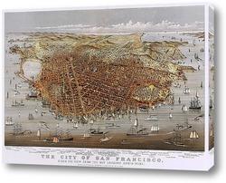 Постер Город Сан Франциско, панорама